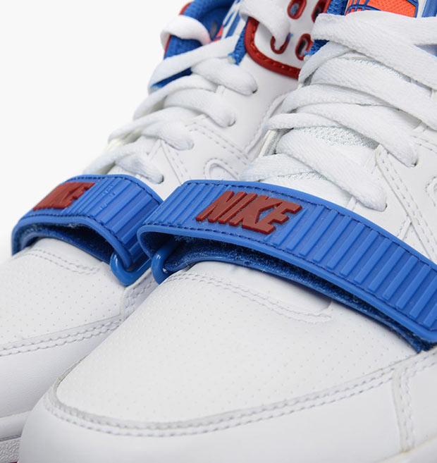 "Nike Air Alpha Force II ""Charles Barkley"" PE Color  White Royal  Blue-Varsity Red-Team Orange Style  307718-100 3d996d902"