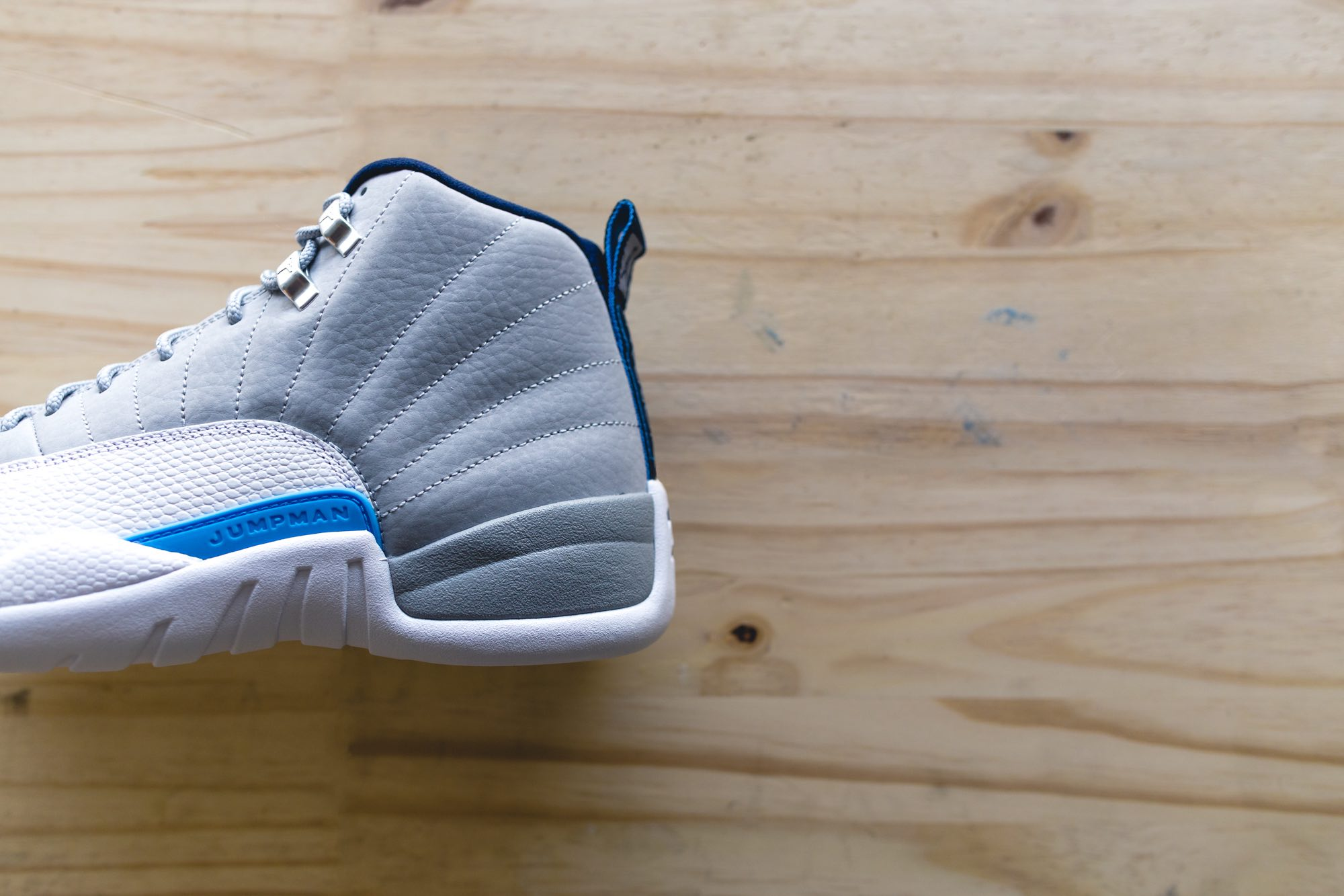 13b12626ee0c The Air Jordan 12 Grey University Blue Arrives This Weekend - Unlkd